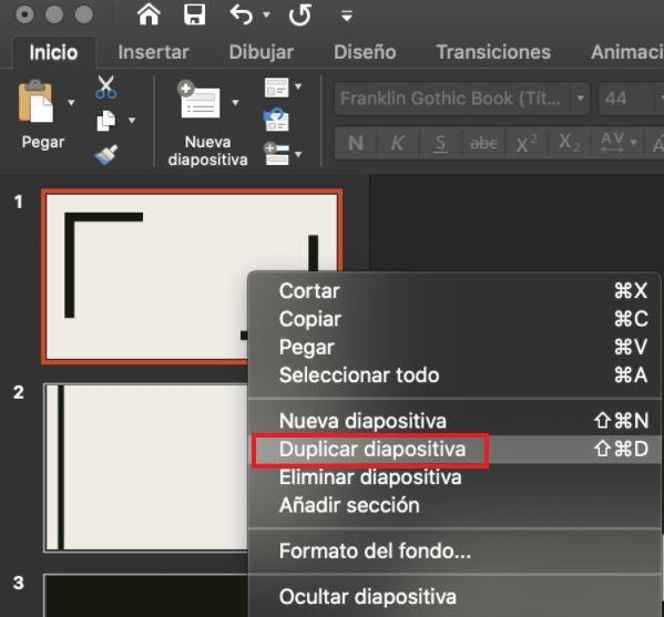 Cómo usar PowerPoint: duplicar diapositiva