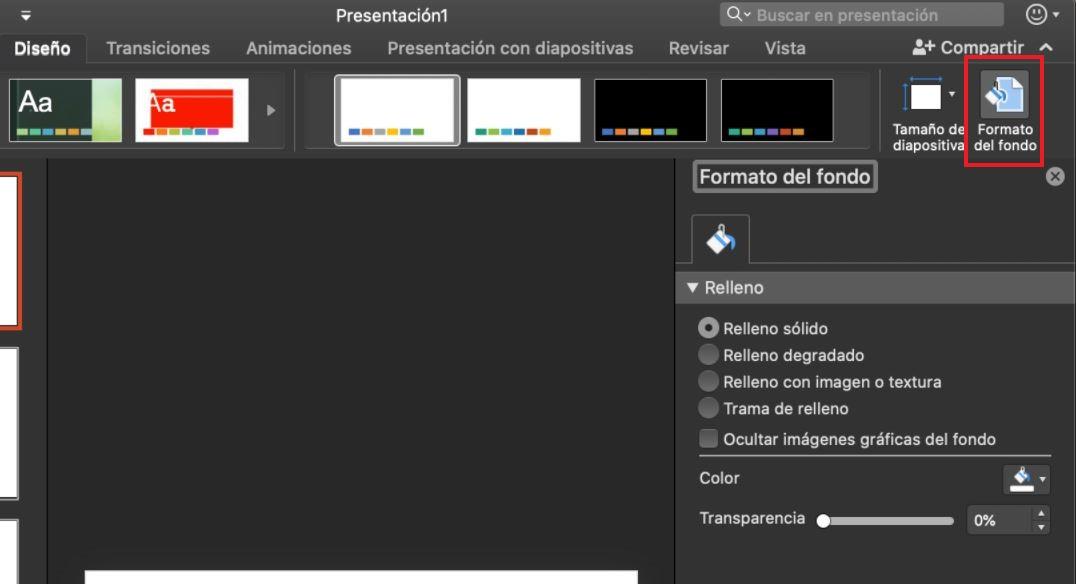 Cómo usar PowerPoint: formato de fondo