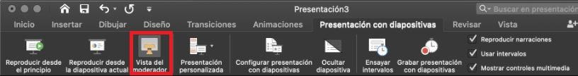 Cómo usar PowerPoint: vista del moderador/presentador