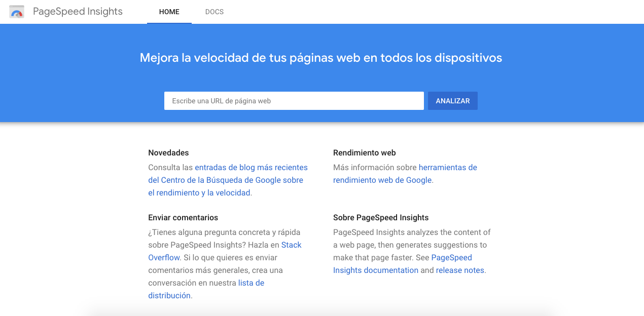 Google PageSpeed Insights: herramienta para realizar análisis web