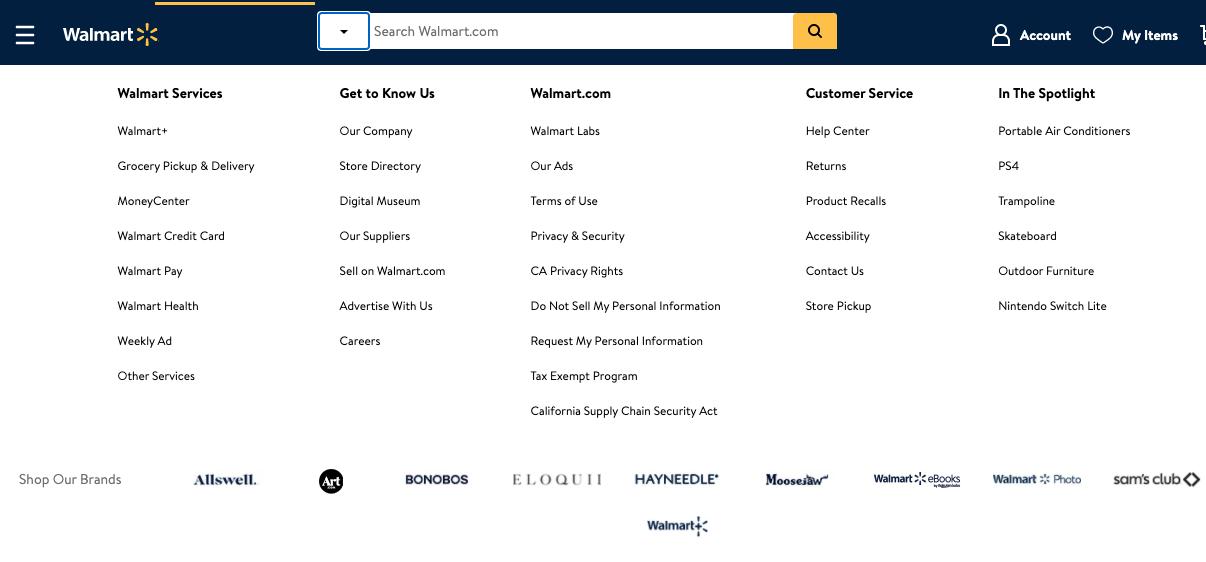 Ejemplo de estrategia de desarrollo de mercado de Walmart