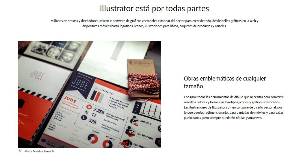 Ejemplo de descripción de producto de Adobe