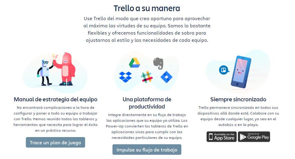 Ejemplo de descripción de producto de Trello