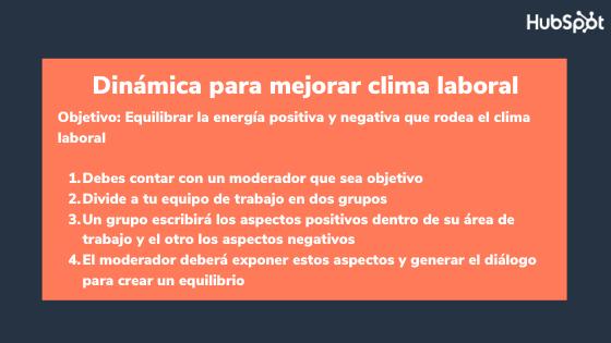 Actividad de integración empresarial para mejorar el clima