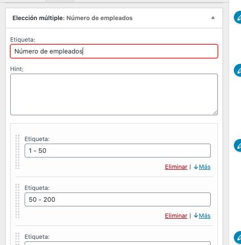 Formulario de contacto en WordPress: etiqueta