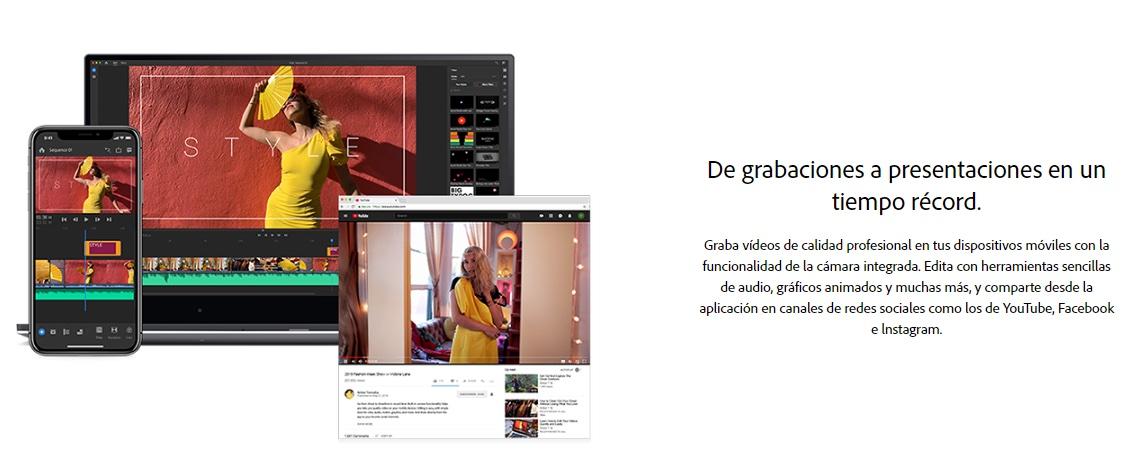 Editor de videos para YouTube: Adobe