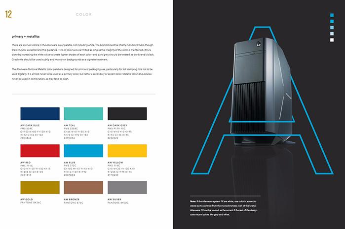 Ejemplo de manual de identidad corporativa: Alienware
