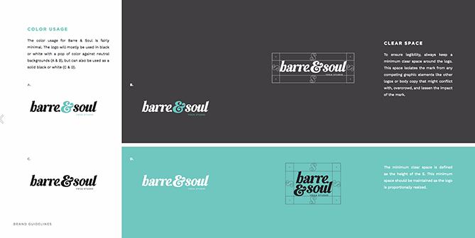 Ejemplo de brand book: Barre & Soul