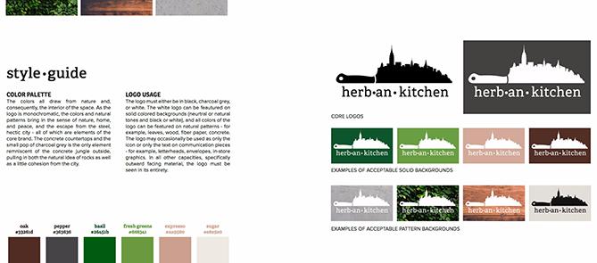 Ejemplo de brand book: Herban Kitchen