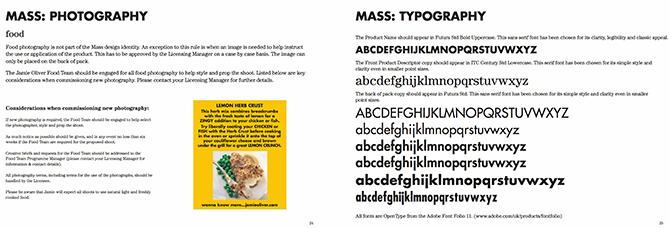 Ejemplo de manual de identidad corporativa: Jamie Oliver
