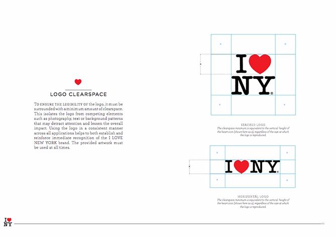Ejemplo de brand book: I love New York