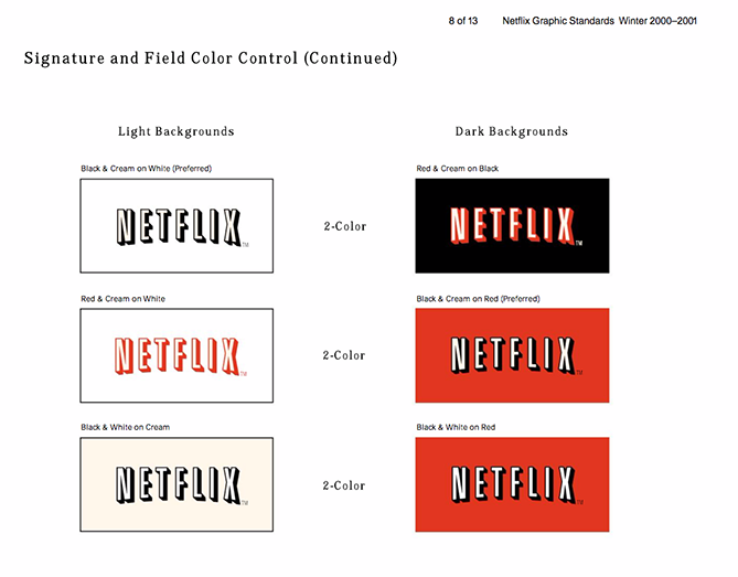 Ejemplo de manual de identidad corporativa: Netflix