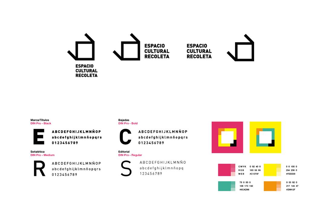 Ejemplo de manual de identidad corporativa: Espacio Cultural Recoleta