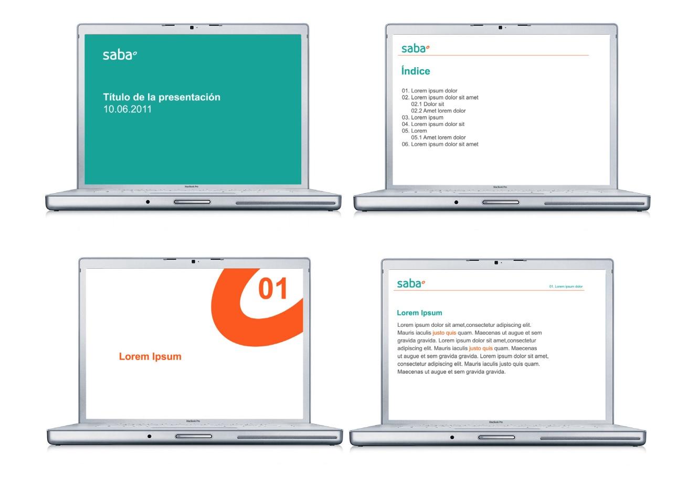 Ejemplo de manual de identidad corporativa: Saba