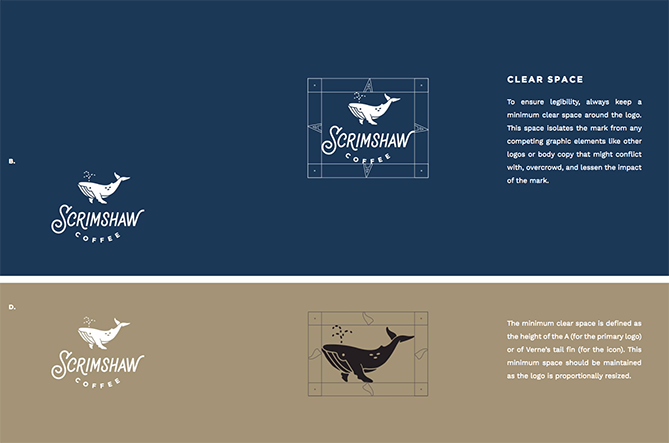Ejemplo de brand book: Scrimshaw Coffee