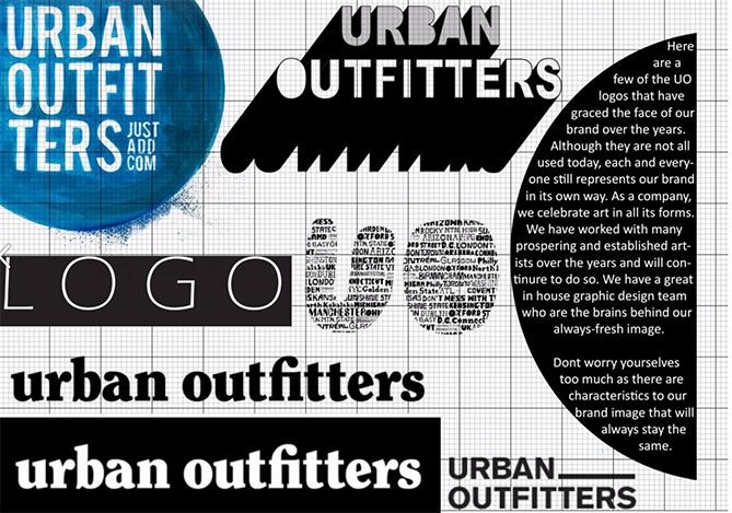 Ejemplo de manual de identidad corporativa: Urban Outfitters