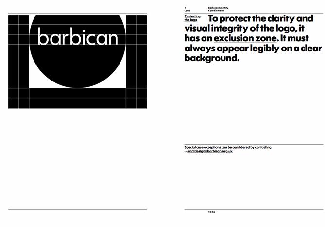 Ejemplo de brand book: Barbican