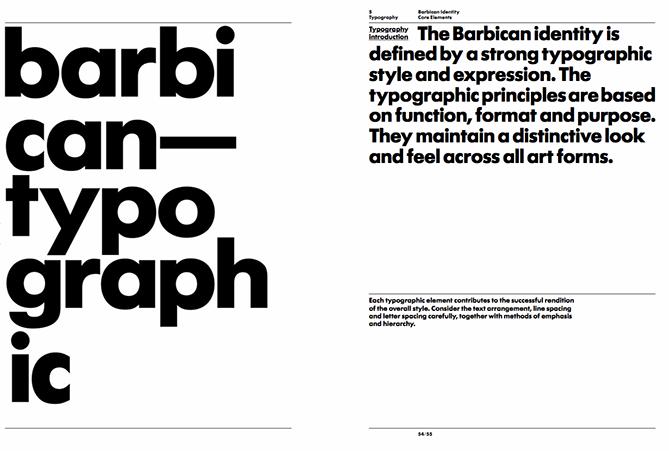 Ejemplo de manual de identidad corporativa: Barbican