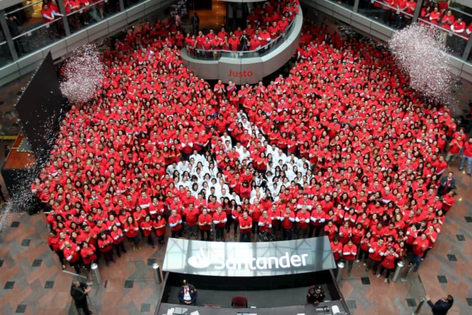 Ejemplo de reconocimiento laboral de Grupo Santander