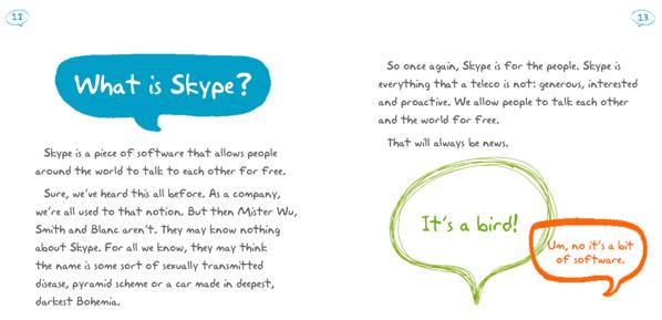 Ejemplo manual identidad corporativa, Skype