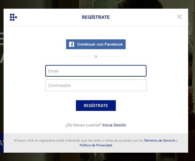 Ejemplos de formularios de contacto: Mubi