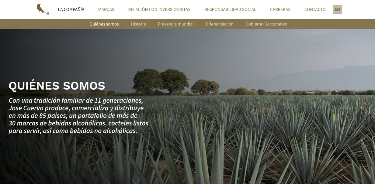 Ejemplo de objetivos generales de una empresa: José Cuervo