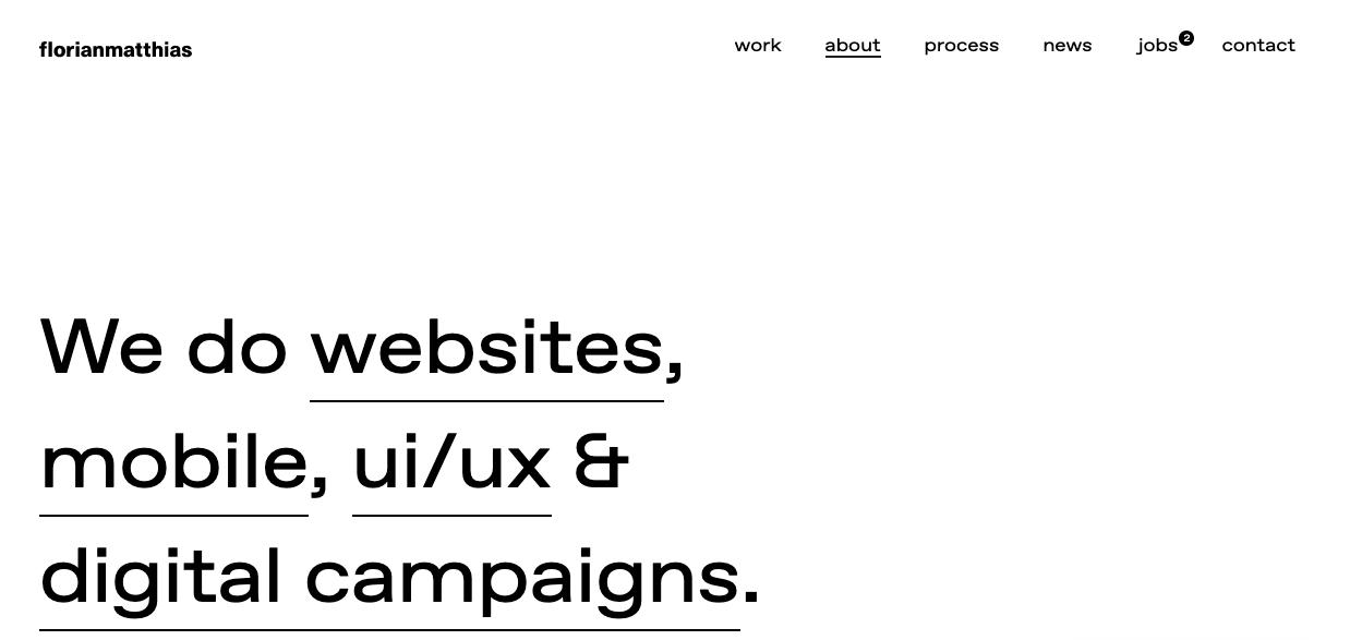Ejemplo de página web sencilla de florianmatthias
