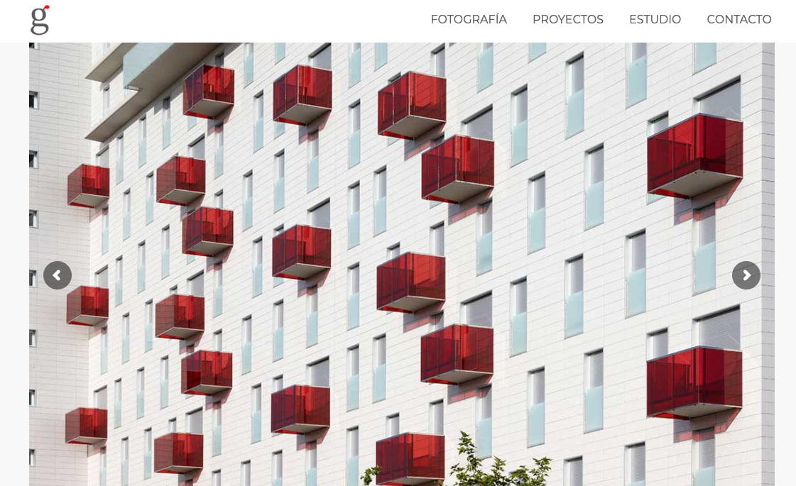 Ejemplo de página web elegante de Gonzalo Bullón