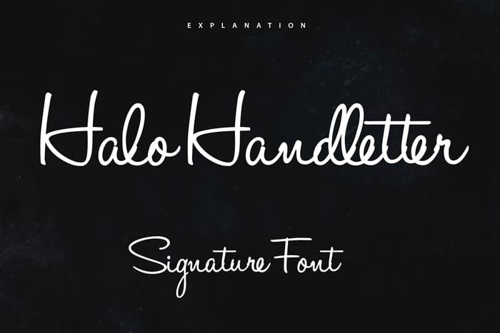 Tipografía elegante gratuita para logos: Halo Handletter