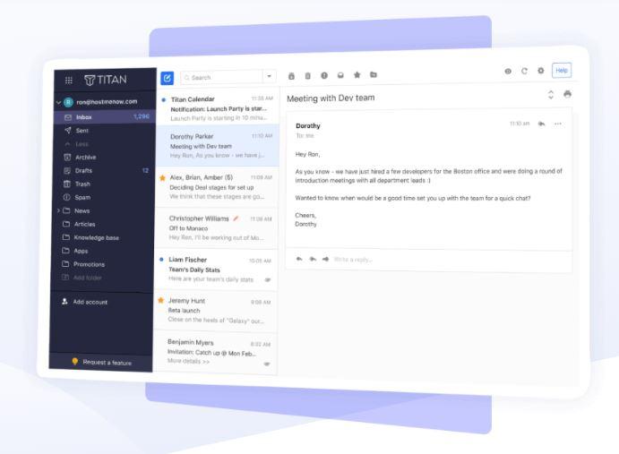 Email hosting: Hostinger