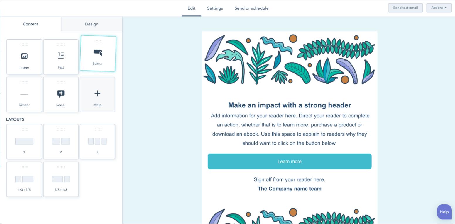 Mejor email hosting: HubSpot