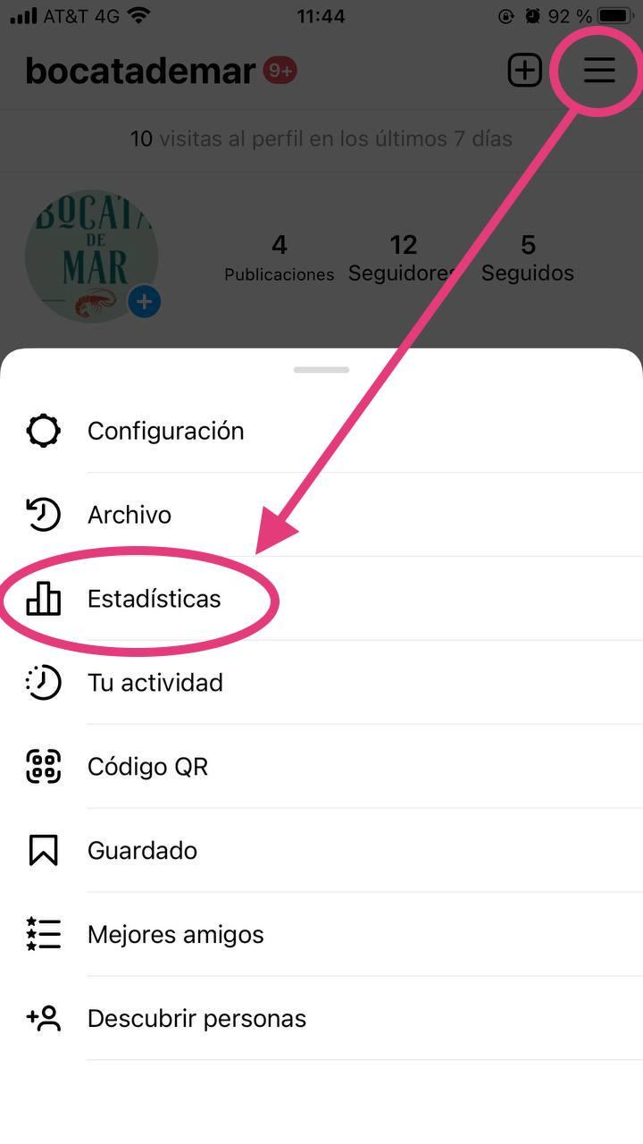 Herramientas para obtener etadísticas de Instagram gratis: Instagram Insights