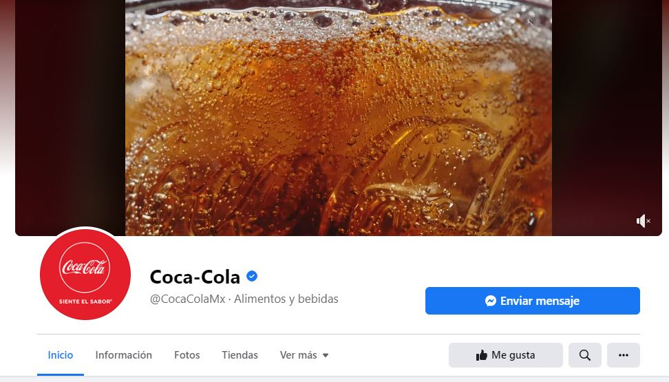 Ejemplo de estrategia de branding de Coca-Cola en Facebook