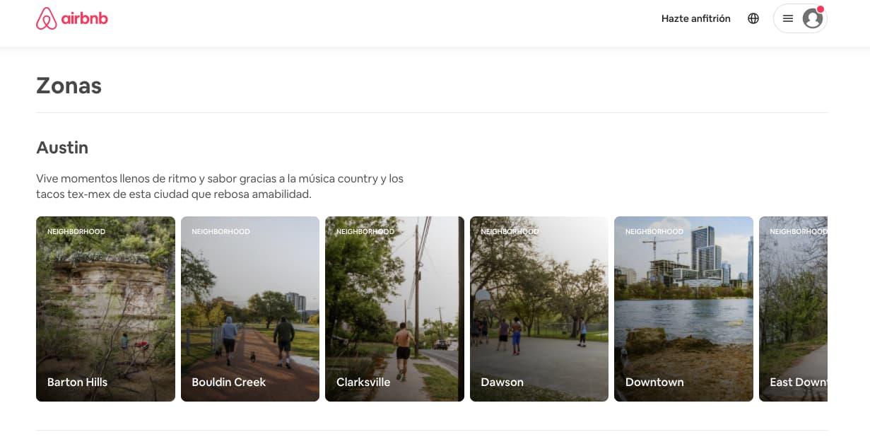 Ejemplo de estrategia de marketing de Airbnb