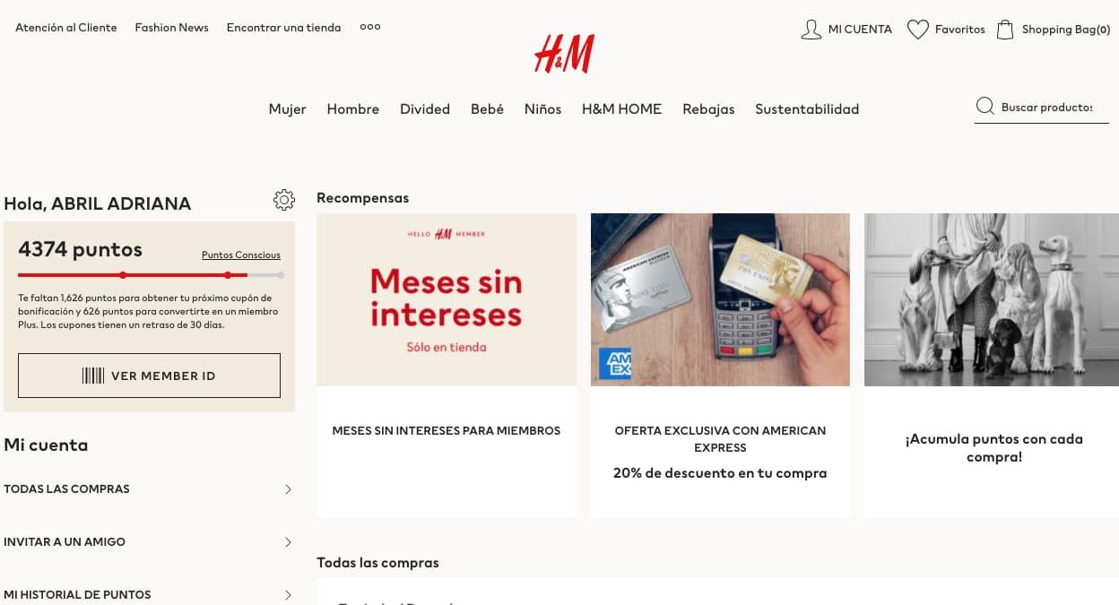 Ejemplo de estrategia de marketing de H&M