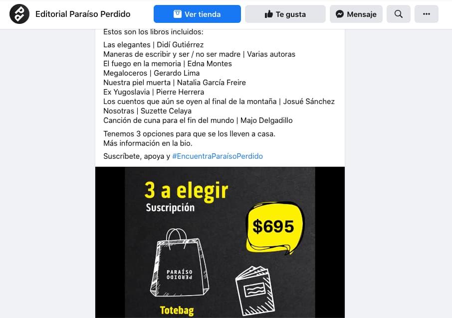 Ejemplo de estrategia de marketing de Paraíso Perdido