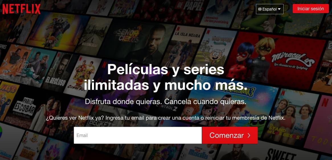 Ejemplo de mercados internacionales de Netflix