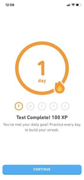Ejemplo atención al cliente de Duolingo