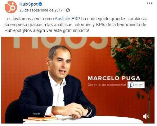 Retención de clientes: estrategia de testimonios en redes sociales de HubSpot