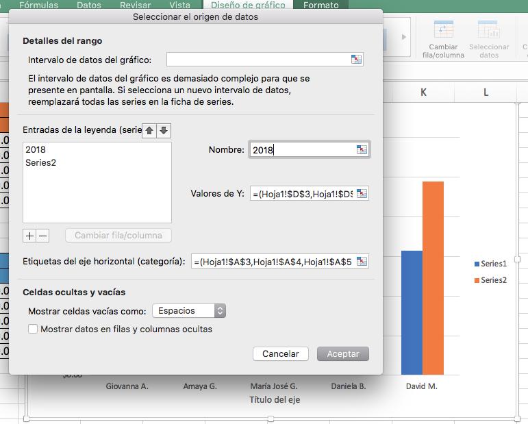 Cómo hacer una gráfica comparativa en Excel: incluye más datos