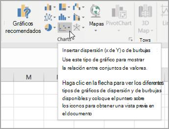 Cómo hacer una gráfica de dispersión en Excel: agrega los datos