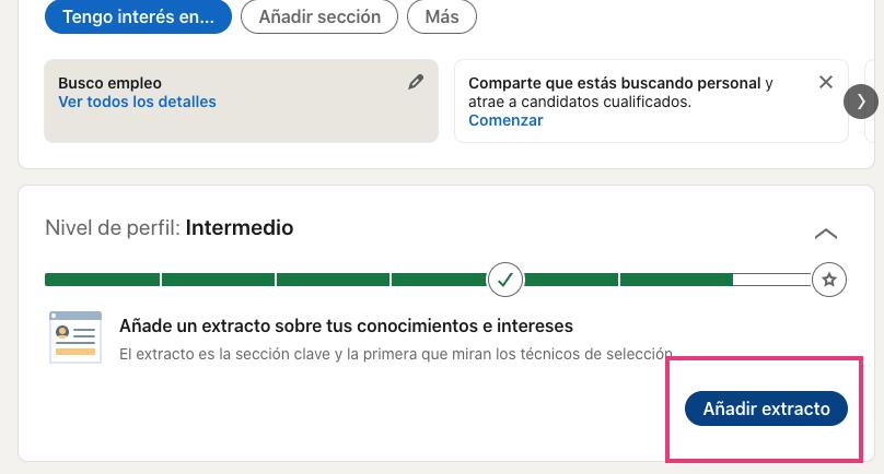 Cómo añadir un extracto en LinkedIn