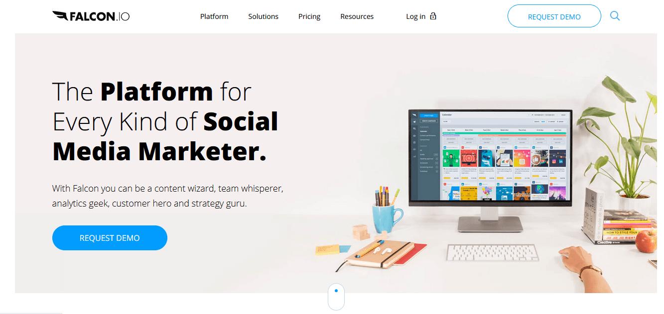 Herramientas para programar publicaciones en redes sociales: Falcon.io