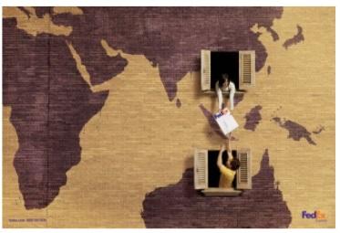 Ejemplo de anuncio publicitario de FedEx