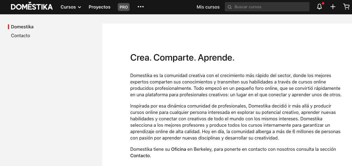Ejemplo de filosofía de una empresa: Doméstika