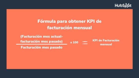 Fórmula para obtener KPI de facturación mensual