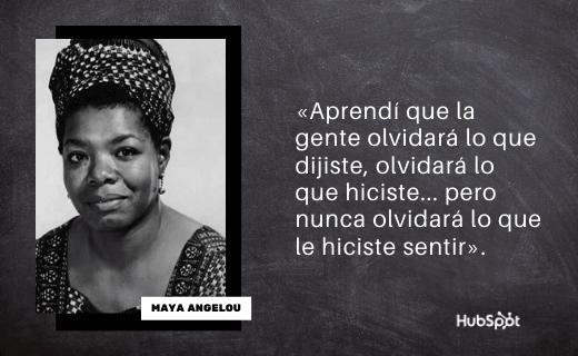 Frase de servicio al cliente de Maya Angelou