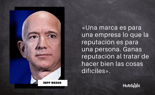 Frase de servicio al cliente de Jeff Bezos
