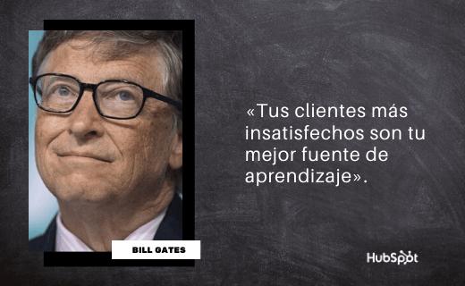 Frase de servicio al cliente de Bill Gates
