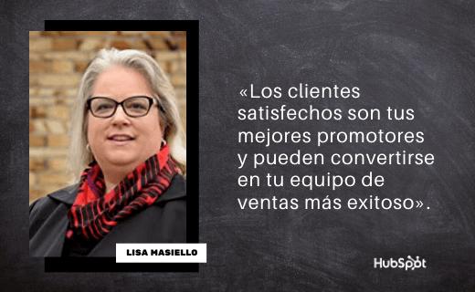 Frase de servicio al cliente de Lisa Masiello